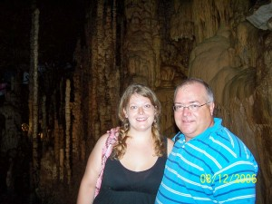 My Dad and Me in a cave in 2006.